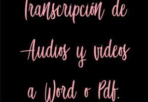 5089Transcripción de Audios o Videos a Word o Pdf en Idioma Ingles