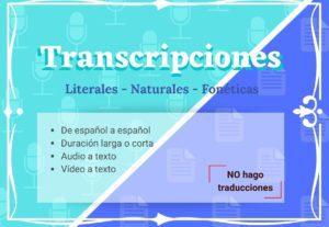 5802Transcripciones Español – Español
