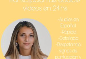 6155Transcripción de audio/video en 24 hs