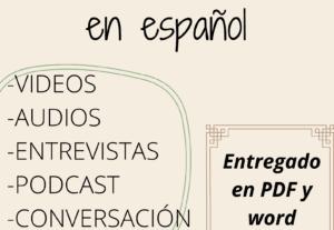 6693Transcripciónes de audio en español